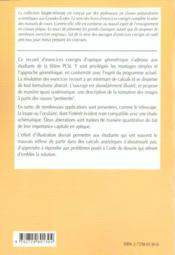 Optique 1re Annee Pcsi Exercices Corriges - 4ème de couverture - Format classique