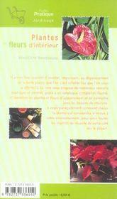 Plantes et fleurs d'intérieur - 4ème de couverture - Format classique