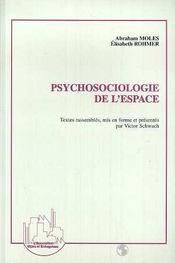 Psychosociologie de l'espace - Intérieur - Format classique