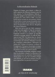 La Decentralisation Theatrale V4 - Le Temps Des Incertitudes 1969-1981 - 4ème de couverture - Format classique
