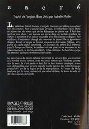Sacré - 4ème de couverture - Format classique