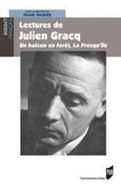 Lectures de julien gracq - Couverture - Format classique