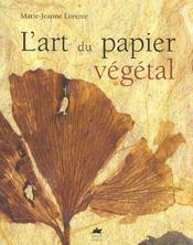 L'art du papier vegetal - Intérieur - Format classique