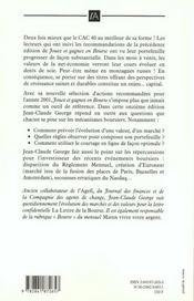 Jouez et gagnez en bourse ; edition 2001 - 4ème de couverture - Format classique
