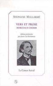 Vers et prose - Couverture - Format classique