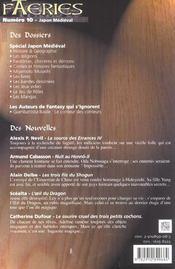 Faeries 10 special japon medieval - 4ème de couverture - Format classique