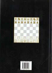Chess ; les echecs - 4ème de couverture - Format classique