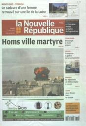 Nouvelle Republique (La) N°20483 du 01/03/2012 - Couverture - Format classique
