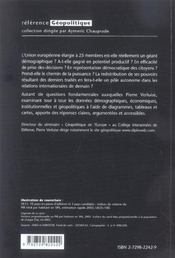 Geopolitique De L'Europe L'Union Europeenne Elargie A-T-Elle Les Moyens De La Puissance ? - 4ème de couverture - Format classique