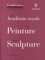 Les conférences de l'académie royale de peinture et de sculpture t.2-2 - Couverture - Format classique
