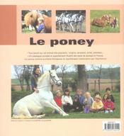 Poney (Le) - 4ème de couverture - Format classique