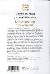 La Conjuration Des Vengeurs - 4ème de couverture - Format classique