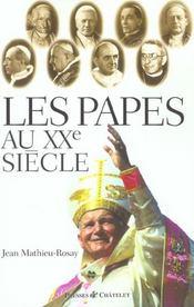 Les Papes Au Xxe Siècle - Intérieur - Format classique
