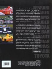 Grands prix formule 1; edition 2002 - 4ème de couverture - Format classique