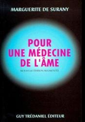Pour une médecine de l'âme - Couverture - Format classique