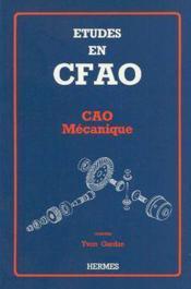 Etudes en cfao - Couverture - Format classique