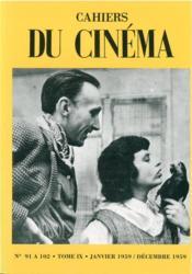 Cahiers Du Cinema T9 - Couverture - Format classique