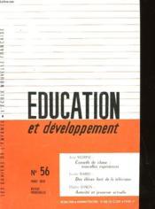 Education Et Developpement N° 56 - Couverture - Format classique