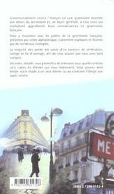 Francais Grammaticalement Correct Grammaire Francais Alphabetique College Lycee Formation Continue - 4ème de couverture - Format classique