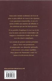 A La Decouverte Du Tao ; Meditations Taoistes - 4ème de couverture - Format classique