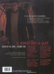 Secrets, le serpent sous la glace t.1 - 4ème de couverture - Format classique