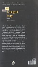 L'araignee rouge - 4ème de couverture - Format classique