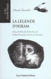 Legende D'Hiram (La) - Intérieur - Format classique