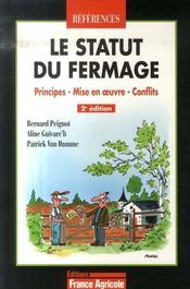 Le statut du fermage (2e édition) - Intérieur - Format classique