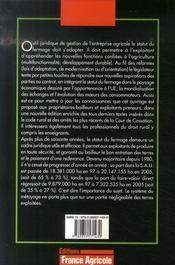 Le statut du fermage (2e édition) - 4ème de couverture - Format classique