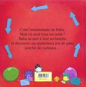 Bon Anniversaire Baba ! - 4ème de couverture - Format classique