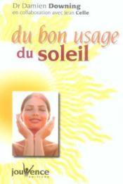 Du bon usage du soleil - Couverture - Format classique