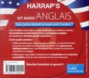 Kit Audio Harrap'S ; Anglais ; Débutez L'Anglais En 20 Séances De 5 Mn - 4ème de couverture - Format classique