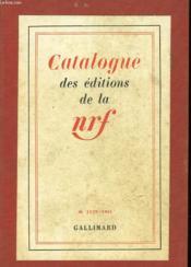 Catalogue De La Nrf - Couverture - Format classique