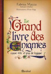 Le grand livre des énigmes ; casse-tête et jeux de logique - Intérieur - Format classique