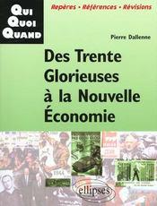 Des Trente Glorieuses A La Nouvelle Economie - Intérieur - Format classique