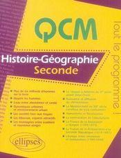 Histoire-géographie ; 2nde - Intérieur - Format classique