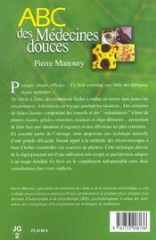Abc Des Medecines Douces - 4ème de couverture - Format classique