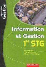 Stg ; Information Et Gestion ; Specialite Gestion - Intérieur - Format classique