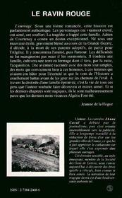 Le Ravin Rouge - 4ème de couverture - Format classique