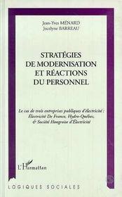 Strategies De Modernisation Et Reactions Du Personnel - Intérieur - Format classique