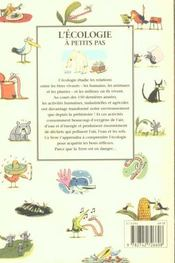 A Petits Pas ; L'Ecologie A Petits Pas - 4ème de couverture - Format classique