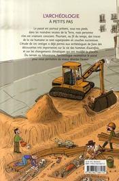 L'archéologie à petits pas - 4ème de couverture - Format classique