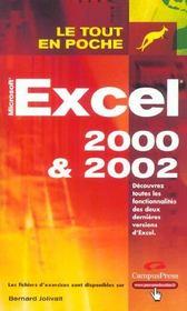 Excel 2000 Et 2002 - Intérieur - Format classique