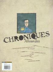 Chroniques absurdes t.2 ; un monde de brutes - 4ème de couverture - Format classique