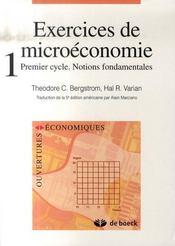 Exercices de microéconomie t.1 - Intérieur - Format classique