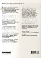 Exercices de microéconomie t.1 - 4ème de couverture - Format classique