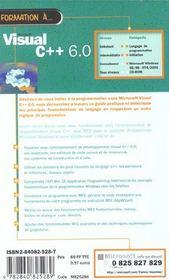 Formation A Microsoft Visual C++ 6.0 - 4ème de couverture - Format classique