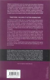 Traditions, valeurs et action humanitaire - 4ème de couverture - Format classique