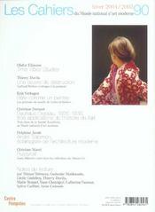 Cahiers Du Musee National D'Art Moderne N.90 ; Hiver 2004-2005 - 4ème de couverture - Format classique