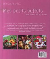 Mes petits buffets pour toutes les occasions - 4ème de couverture - Format classique